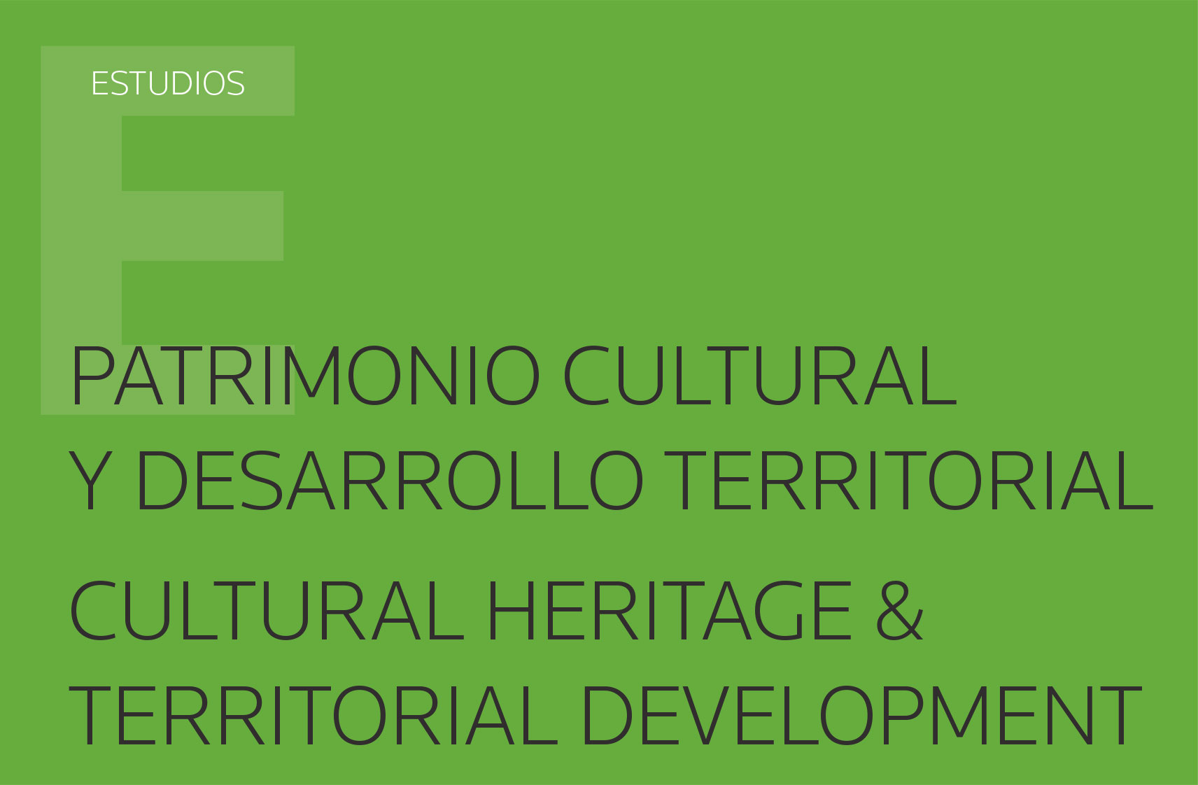 """Publicación del libro """"Patrimonio cultural y desarrollo territorial Cultural heritage & territorial development"""""""