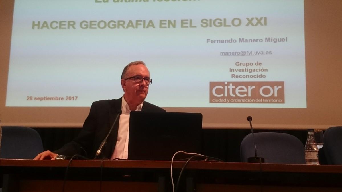 """""""Hacer Geografía en el Siglo XXI"""" por Fernando Manero Miguel"""